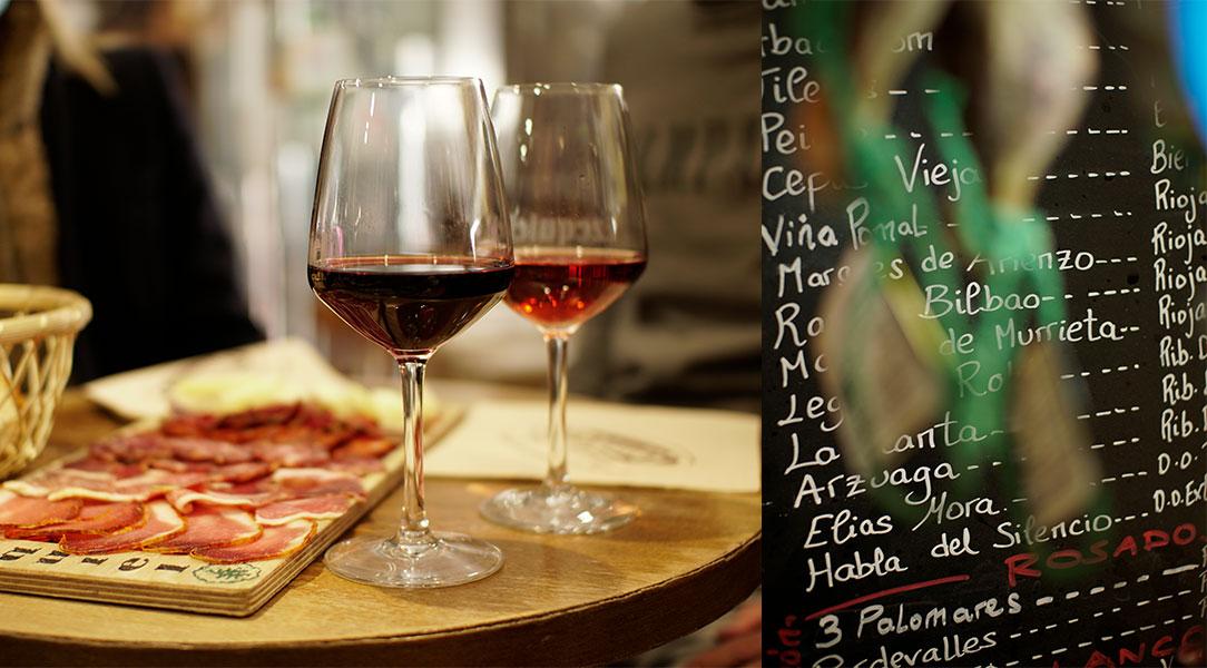 Ezequiel selección de vinos abiertos en barra